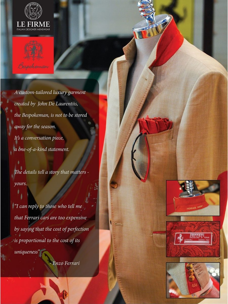 Bespokeman.Ferrari Tribute Custom Jacket